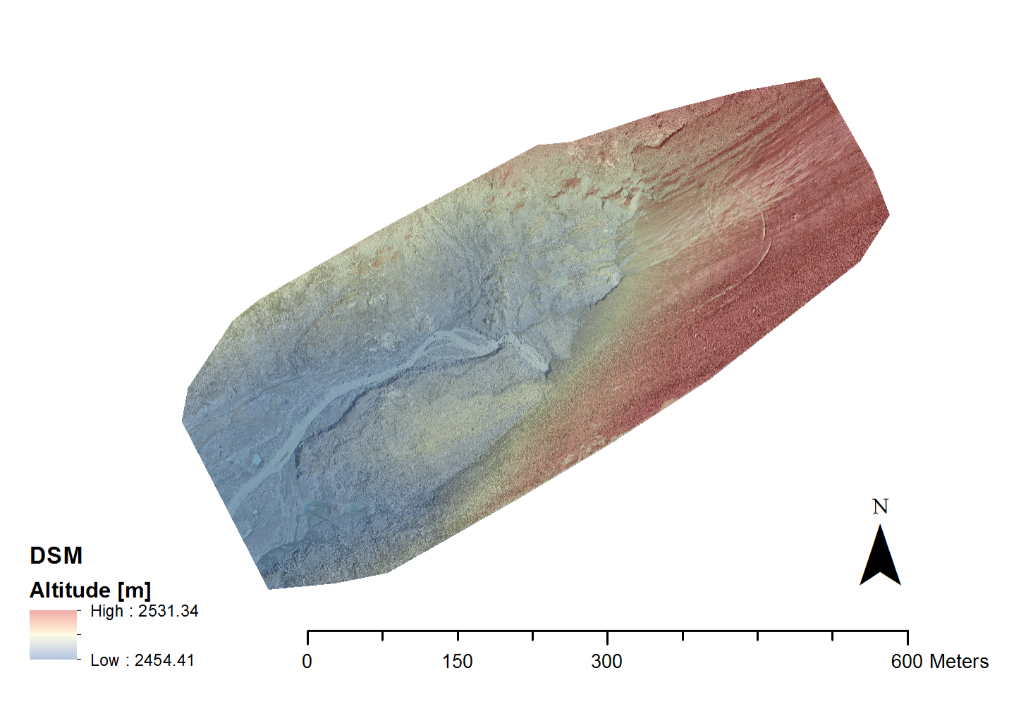 Digital Elevation Model and Orthophoto of the glacier margin generated from drone images