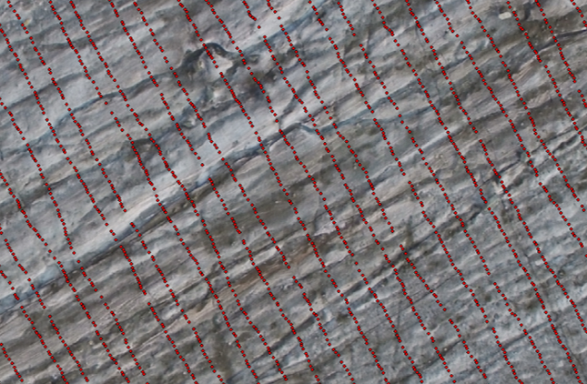 GPS positions on the glacier of radar survey lines.